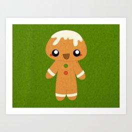 Christmas Card - Gingerbread Kid Art Print