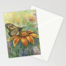 Butterfly Landing by Marianne Fadden Stationery Cards