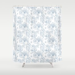 Dipper Pines Pattern Shower Curtain
