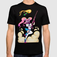 Riot Magical Girl MEDIUM Black Mens Fitted Tee