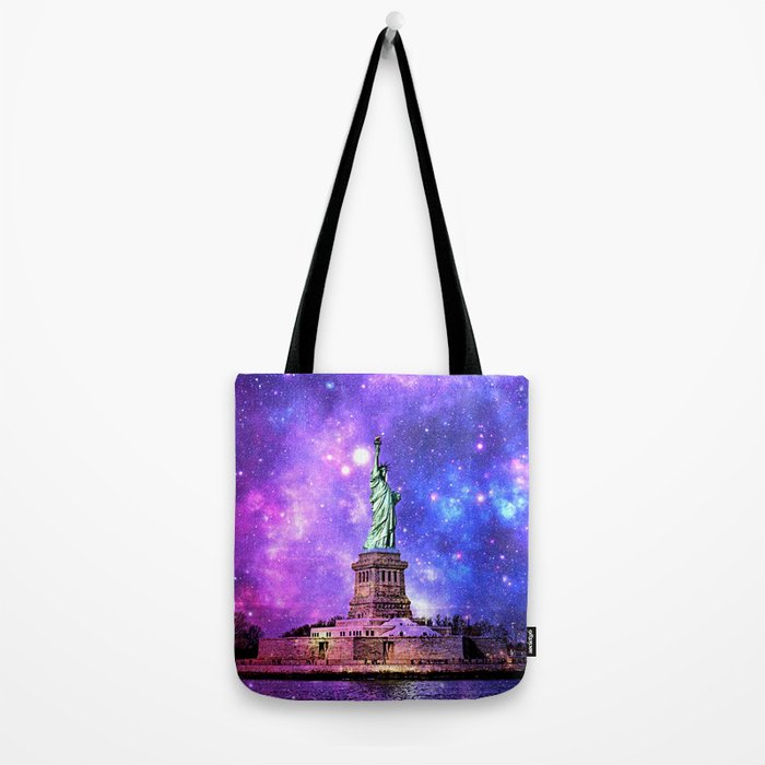 space Statue of Liberty Tote Bag