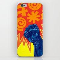 superheroes iPhone & iPod Skins featuring Superheroes SF by Nick Volkert