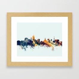 Lansing Michigan Skyline Framed Art Print