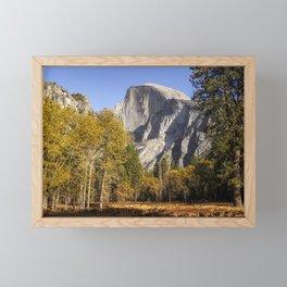 Yosemite Fall Color Half Dome Meadow   10-29-19  Framed Mini Art Print