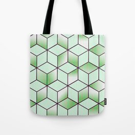 Electric Cubic Knited Effect Design Tote Bag