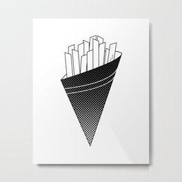 French Fries frites Metal Print