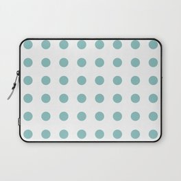 Chalky Blue Polka Dots Laptop Sleeve