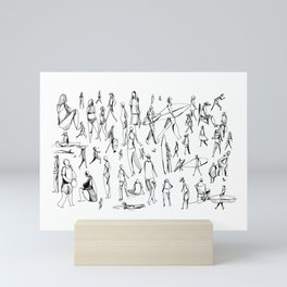 People Of the Beach : Short Sands, OR Mini Art Print