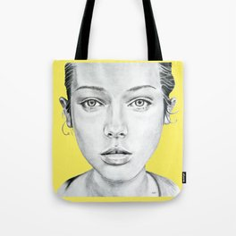 Lady Portrait Tote Bag