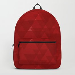Delicate maroon triangles in the intersection and overlay. Backpack