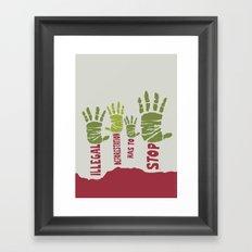 Deforestation has to stop Framed Art Print