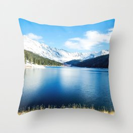 Clinton Gulch // Day Light Mountain Lake Forest Snow Peak Landscape Photography Hiking Decor Throw Pillow