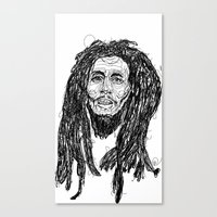 marley Canvas Prints featuring Marley  by Icon Ink