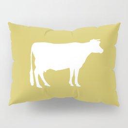 Cow: Mustard Yellow Pillow Sham