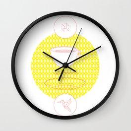 cofee origami Wall Clock