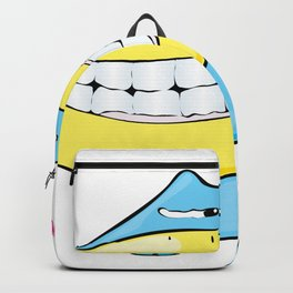 Cartoon character doodle in love Backpack