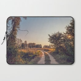 Country dirt road in Lomellina at sunset Laptop Sleeve