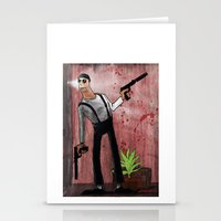 leon Stationery Cards featuring Leon by Eliseu Miranda