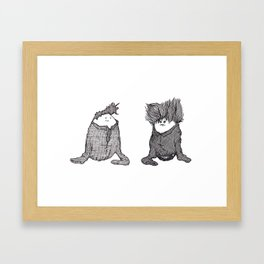Robert Smith vs. Morrissegg  Framed Art Print