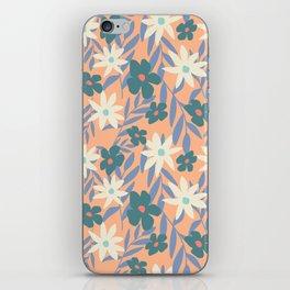 Just Peachy Floral iPhone Skin