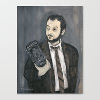 kubrick Canvas Prints featuring Stanley Kubrick by Melinda Hagman