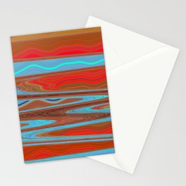 Abstract Retro Lava Water Deep Earth Landscape Stationery Cards
