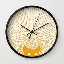 Cat Landscape 96: Good Meowning Wall Clock