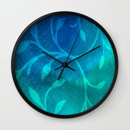 Winter Leaves Wall Clock