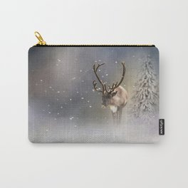 Santa Claus Reindeer in the snow Carry-All Pouch