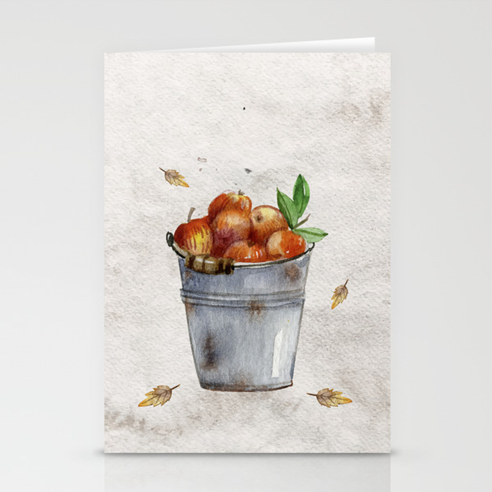 Apple Pail Stationery Cards by Artistnumber9 CRD8085640