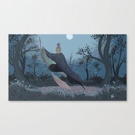 Bird Witch Canvas Print