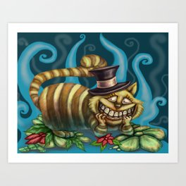 Cheshire Cat, Alice in Wonderland Art Print