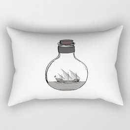 Antique Ship in a Bottle Rectangular Pillow