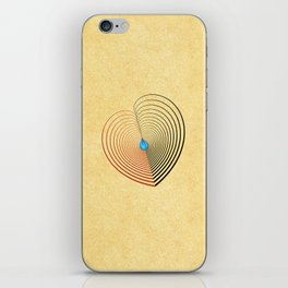 Out of the Blue -- an unbalanced heart iPhone Skin