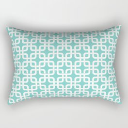 Mid-Century Modern Geometric Pattern, rounded corner squares interlocking Rectangular Pillow