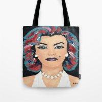 marilyn Tote Bags featuring Marilyn by Sartoris ART