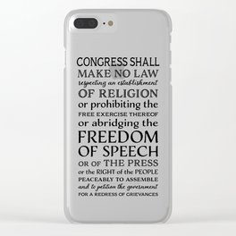 First Amendment Fundamental Freedoms Clear iPhone Case