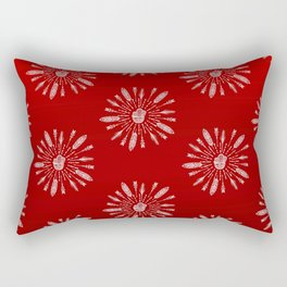 Red Aztec Ombre Pattern Rectangular Pillow