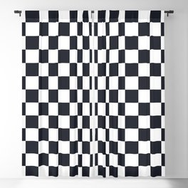Classic Checkerboard Pattern Blackout Curtain