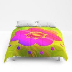 Mandala Pink Daisy Comforters