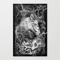 Elk Decay Canvas Print