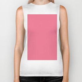 Pantone Pink Lemonade 16-1735 Solid Color Biker Tank