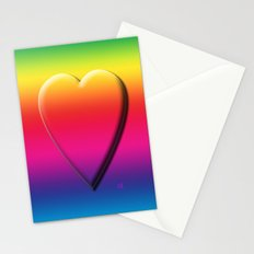 One Heart Rainbow Stationery Cards