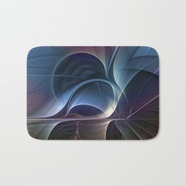 Fractal Mysterious, Colorful Abstract Art Bath Mat