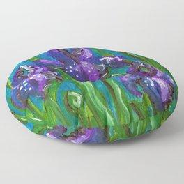 Iris by Mary Bottom Floor Pillow