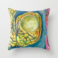Lost Fire Opal Throw Pillow
