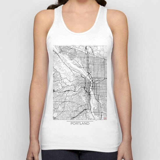 Portland Map White by hubertroguski