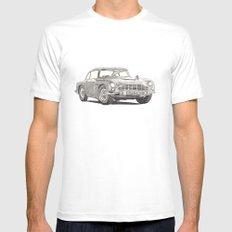 Aston Martin DB5 White Mens Fitted Tee MEDIUM