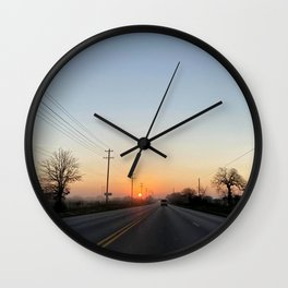 Mornings on the rout  Wall Clock