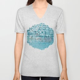 Turquoise Unisex V-Neck